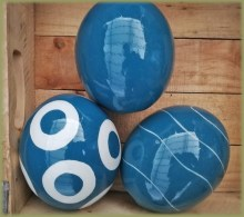 Painted Ostrich Eggs Blue