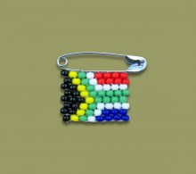 Miniature SA Flag Pin Beaded