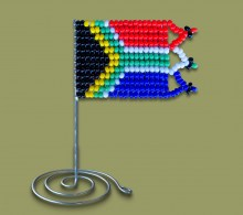 Small Beaded SA Desk Flag