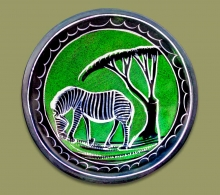 African Soapstone Bowl Small Zebra.1