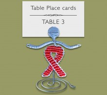 Aids Ribbon Beaded Table Place Card Holder