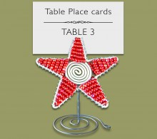 Christmas Beaded Star Table Place Card Holder