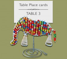 Beaded Elephant Table Place Card Holder
