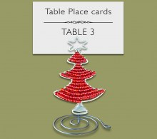 Christmas Beaded Tree Table Place Card Holder