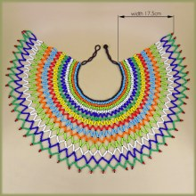 Zulu Beaded Lace Necklace Extra Large