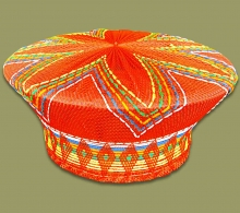 Zulu Hat Traditional Orange