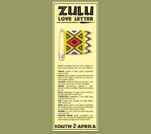 Zulu Love Letter Bookmark