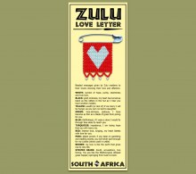 African Bookmark Zulu Love Letter Heart