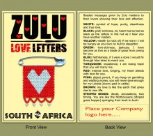 Zulu Love Letter Heart Card Only 1