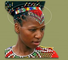 Zulu Womans Head Veil