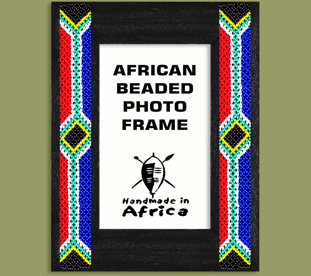 SA Flag Beaded Photo Frame x 2 Sides
