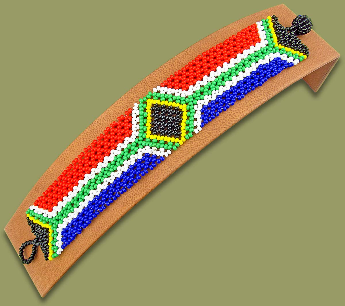 Beaded sa flag bracelet wholesale suppliers