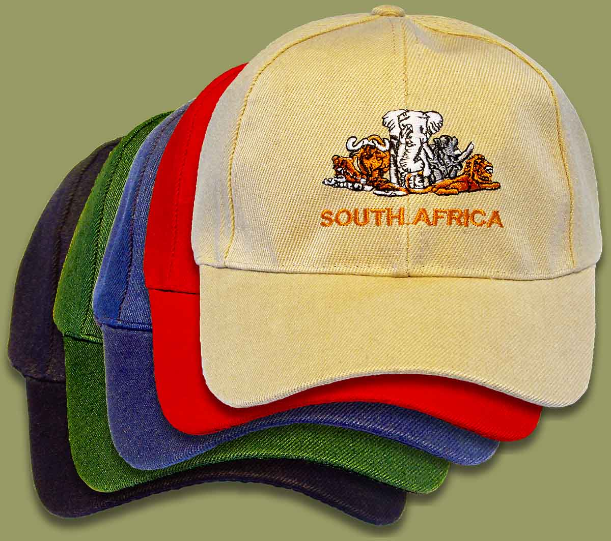 Big Five South Africa Caps Mixed Colors