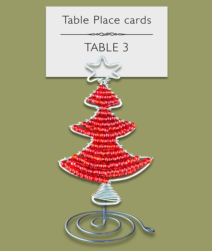 Table Place Card Holder Christmas Tree 2
