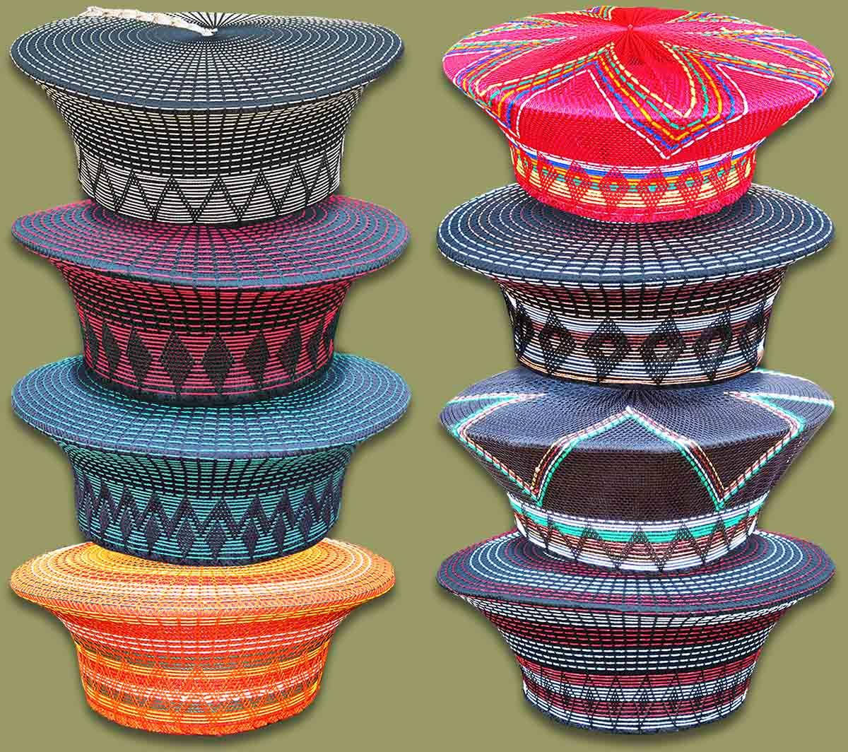 Zulu Hats African  Zulu Hats Mixed Colors adde511e39a