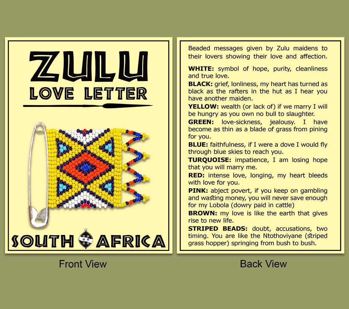 Zulu Love Letter Card Only